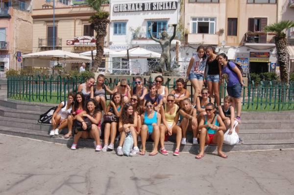 Foto di gruppo a Mondello